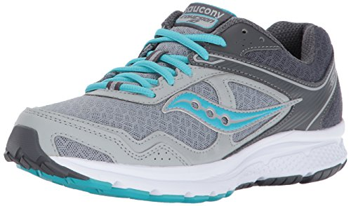 Saucony Women's Cohesion 10 Running Shoe, Grey Blue, 7 Medium US (Air Double Grid)
