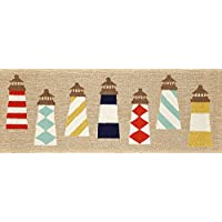 Area Rugs - Coastal Lighthouse Rug - 27 X 72 Runner - Indoor Outdoor Rug - Nautical Decor - Hand Tufted Rug
