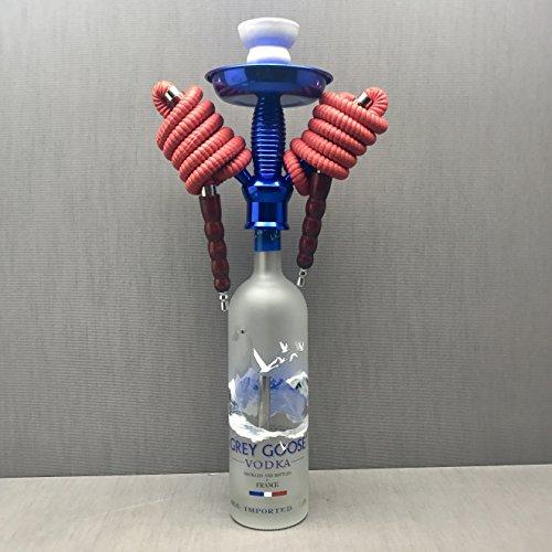 Grey Goose Vodka 1L 2 Hose Bottle Hookah