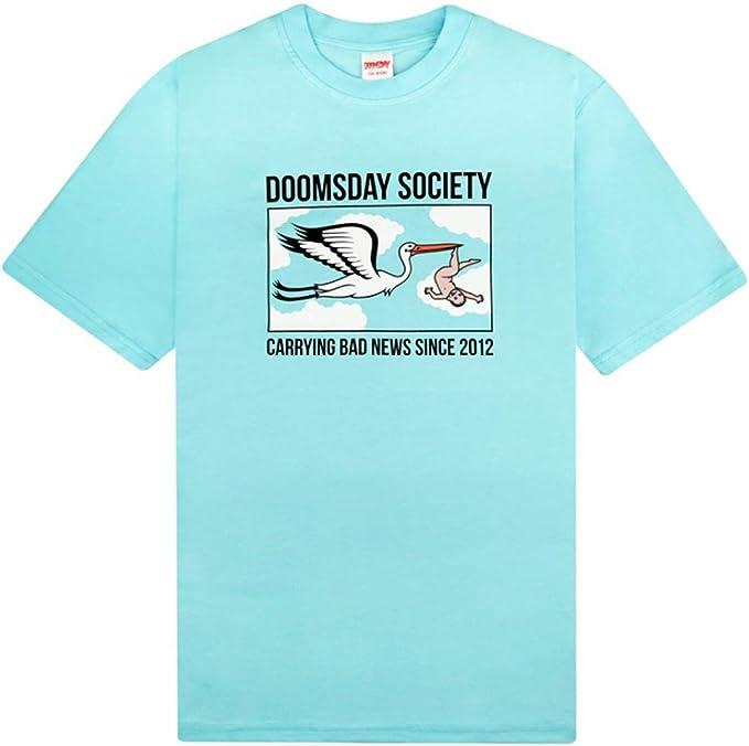 DOOMSDAY SOCIETY - Camiseta de Manga Corta - para niño Azul Claro XXL: Amazon.es: Ropa y accesorios