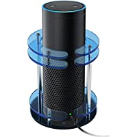 for Amazon Echo. Echo Acrylic Stand Radiating Protective Case Skin. Alexa Transparent Speaker Stand. By ANTS