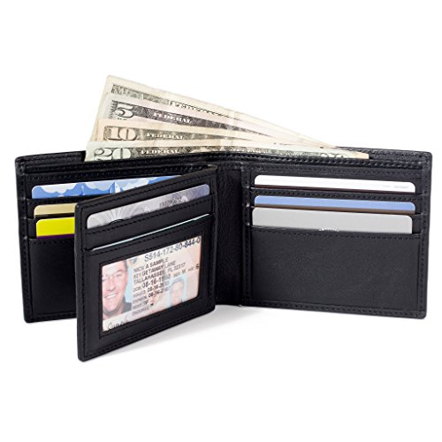 ID Stronghold Bifold Genuine Leather