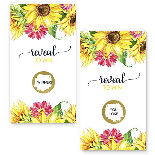 Bright Floral Scratch Off Game Cards (28 Pack) by Paper Clever Party (Image #4)