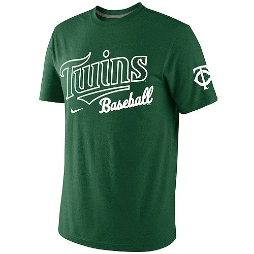 NIKE Minnesota Twins St. Paddy's Day Premium Tri-Blend T-Shirt - Kelly Green (XX-Large) ()
