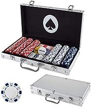 Trademark Poker Maverick 300 Dice Style Poker Chip Set