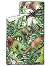 """WYYWCY Group Realistic Watercolor Dinosaurs Surrounded By Boys Sleeping Bags Kids Kids Sleeping Bags With Blanket And Pillow Rollup Design Great For Preschool Daycare Sleepovers 50""""x20"""""""
