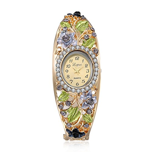 womens-luxury-ladies-wrist-watch-elegant-crystal-flower-decor-dress-bangle-bracelet-watch-dark-blue