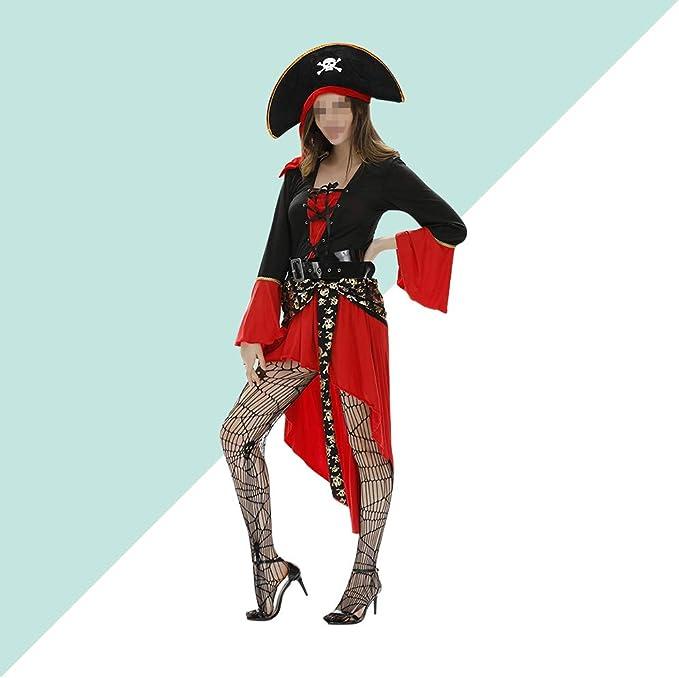 Amosfun California - Disfraz de Capitán pirata para mujer: Amazon ...
