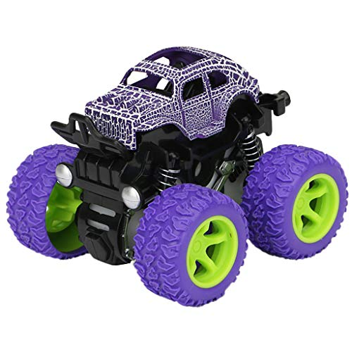 UMFunInertia Four-Wheel Drive Off-Road Vehicle Simulation Model Toy Baby Car (Purple) -