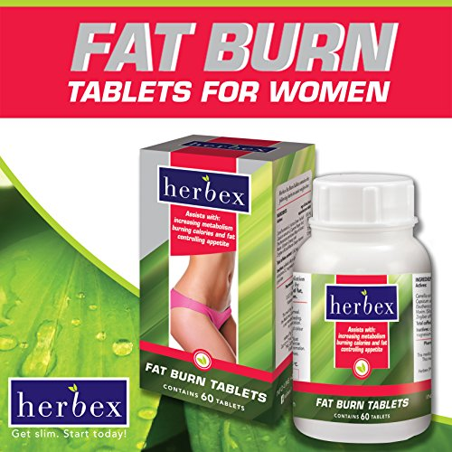 Fat Burn Tablets For WOMEN - -Boosts Energy-Burns Fat Away- Increases Metabolism-Controls Appetite - 60 Tablets