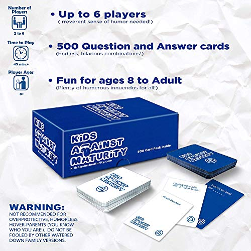 Kids Against Maturity Card Game for Kids and Humanity Super Fun Hilarious for Family Party Game
