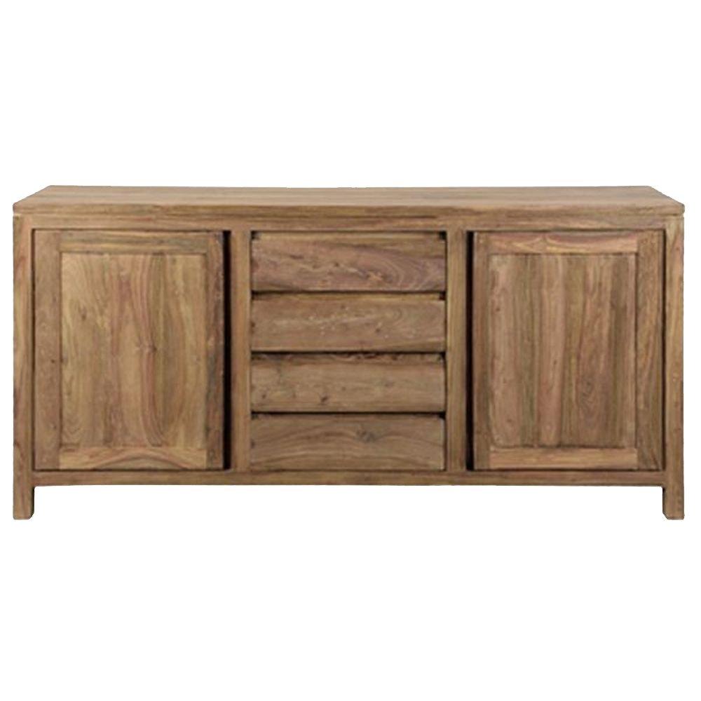 Sideboard mit 2 Türen & 4 Schüben aus Massivholz Palisander natur - Modell Lenz