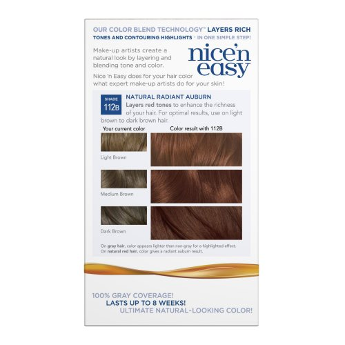 Clairol Nice 'N Easy Hair Color 112 B Natural Radiant Auburn 1 Kit (Pack of 12) by Clairol (Image #5)