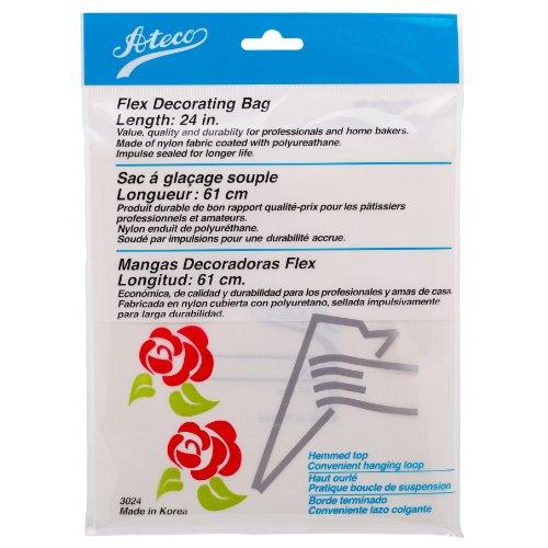 Ateco 3024 Flex Decorating Bag, Coated Nylon, 24-Inch, Reusable
