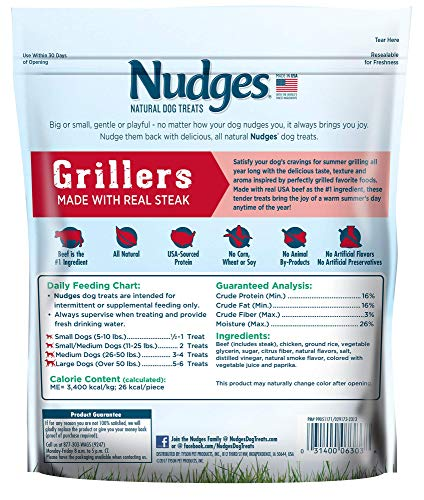 Nudges Steak Grillers Dog Treats, 16 oz