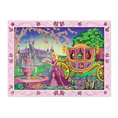 Melissa & Doug Peel and Press Sticker by Number Activity Kit: Fairytale Princess - 80+ Stickers, Frame: Melissa & Doug: Toys & Games