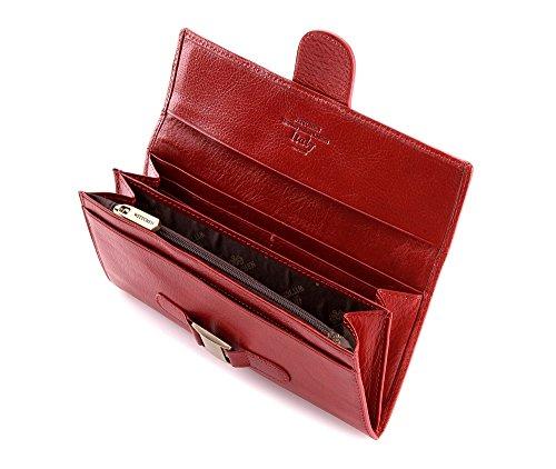 WITTCHEN Brieftasche | 9x19 cm | Narbenleder, rot | Handmade, Kollektion: Italy - 21-1-336-3