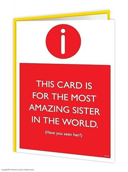 Amazon Brainbox Candy Funny Humorous Amazing Sister Birthday