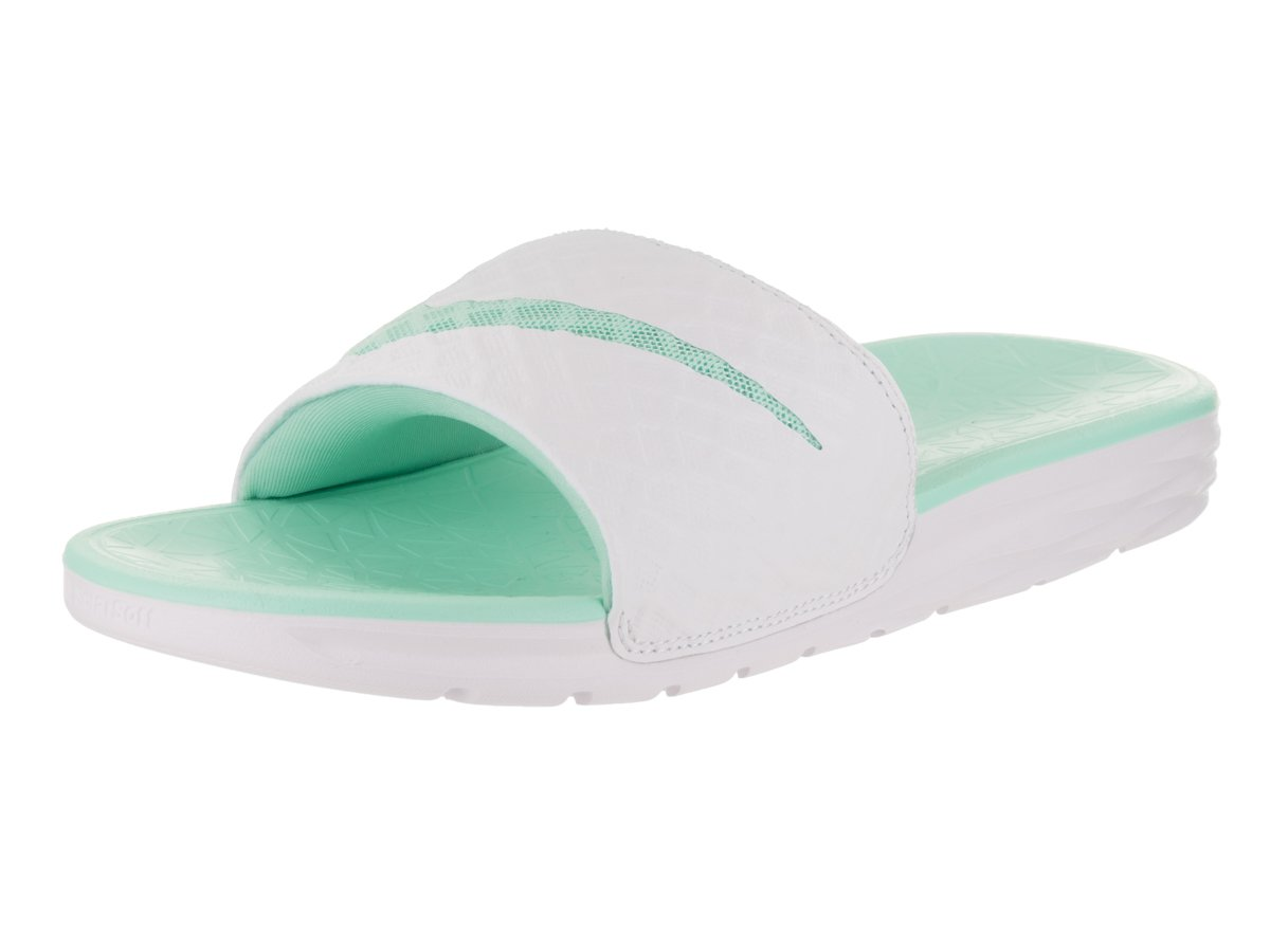 85d85902b Galleon - Nike Womens Benassi Solarsoft Sandals White Artisan Teal Size 7