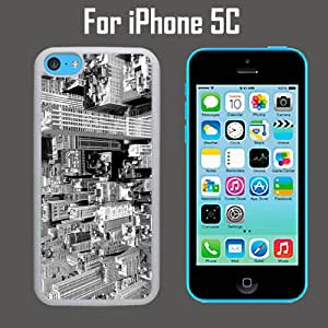 City View Black White Custom Case/ Cover/Skin *NEW* Case for Apple iPhone 5C - Black - Plastic Case (Ships from CA) Custom Protective Case , Design Case-ATT Verizon T-mobile Sprint ,Friendly Packaging - Slim Case