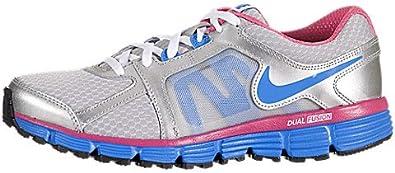 Derivar álbum de recortes cazar  Amazon.com   Nike Dual Fusion ST 2 (Kids) - Metallic Silver / Light Photo  Blue-Desert Pink, 6 M US   Athletic