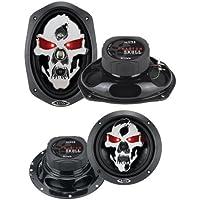 2) BOSS SK694 6x9 700W 4 Way Car Speakers + BOSS SK652 6.5 300W Car Speakers