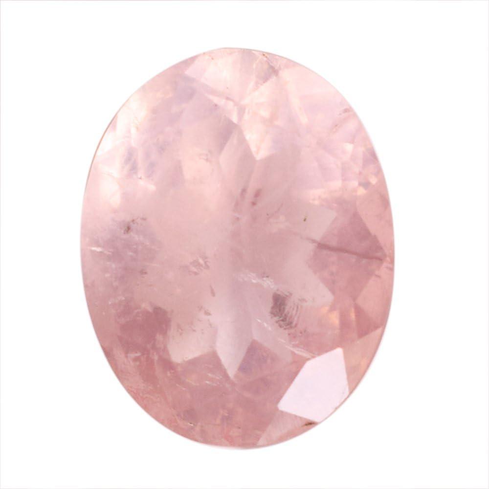 Cabujón de cuarzo rosa natural de alta calidad, forma ovalada, corte facetado, piedra de anillo, AG-9356