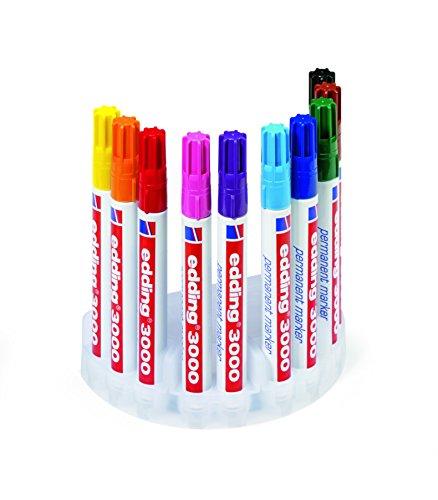 edding 4-3000-10 Permanentmarker, nachfüllbar ,1.5-3 mm, farblich sortiert