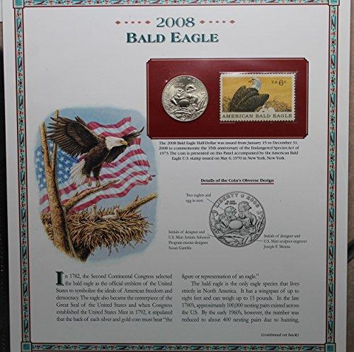 2008 S Bald Eagle Commemorative with 6.c Postal .50c AU