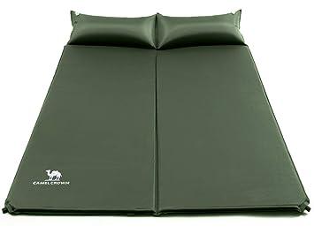 CAMEL CROWN Esterillas Auto-inflables para Acampada Colchón Camping de Ultraligero Dormir Doble de Acampada Deportes y Aire Libre Senderismo Playa Viaje: ...
