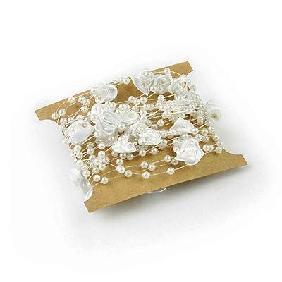 Perles Rose perle ligne de dentelle couture Garniture de vêtement de bricolage Robe de Mariée Décoration Regard Natral