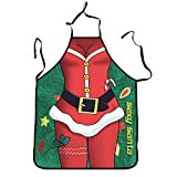 DZT1968 Novelty Cooking Kitchen Apron Funny BBQ Christmas Gift Funny Sexy Party Apron (B1)