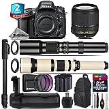 Holiday Saving Bundle for D610 DSLR Camera + 18-140mm VR Lens + 650-1300mm Telephoto Lens + 500mm Telephoto Lens + Battery Grip + 2yr Extended Warranty + 32GB Class 10 Memory - International Version