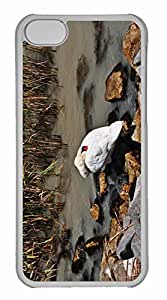 iPhone 5C Case, Personalized Custom Swan 5 for iPhone 5C PC Clear Case by runtopwell