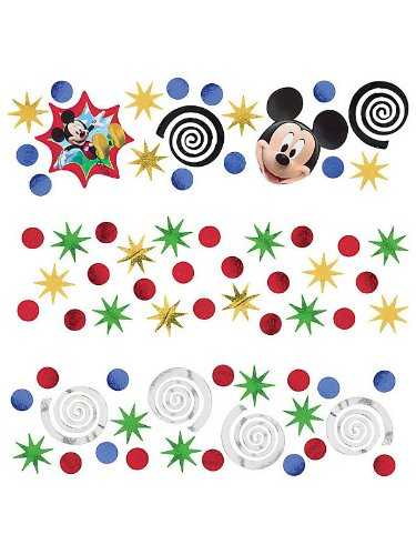 Amscan Disney Mickey Mouse Birthday Party Confetti Decoration, 1.2 oz, Multicolor