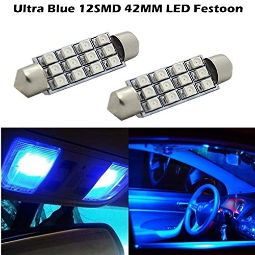 partsam-2x-blue-12smd-led-map-dome-interior-lights-bulbs-bulb-42mm-festoon