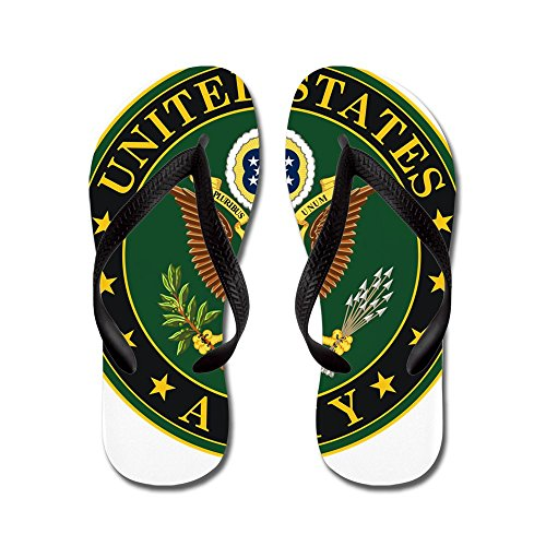 Cafepress United States Army - Tongs, Sandales Rigolotes, Sandales De Plage Noir
