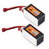 FLOUREON 4S 14.8V 1500mAh 45C Lipo Battery with T Plug for RC Airplane RC Helicopter RC Car Truck RC Boat RC Hobby