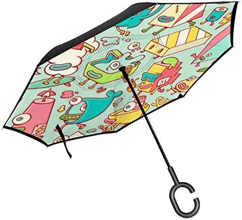サマーアップ 逆さ傘 逆折り式傘 車用傘 耐風 撥水 遮光遮熱 大きい 手離れC型手元 梅雨 紫外線対策 晴雨兼用 ビジネス用 車用 UVカット