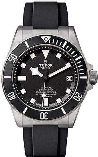 Tudor pelagos 25600tn caso titanio en negro correa de caucho reloj para hombre: Amazon.es: Relojes