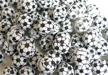 Chocolate Soccer Balls Foil Covered - 3LB Bulk Chocolate (Approx. 225 pieces) ()