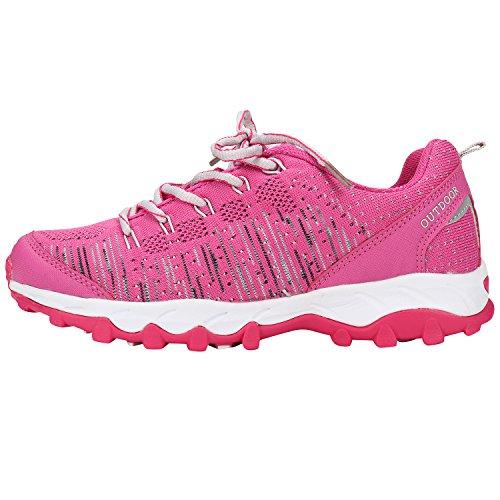 Alexis Leroy ligero y respirable, Zapatillas de deporte con cordones para Mujer Rosa
