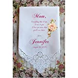 Mother of the Bride Handkerchief PRINTED Wedding gift CUSTOMIZED and Personalized ChoCAC[A68]