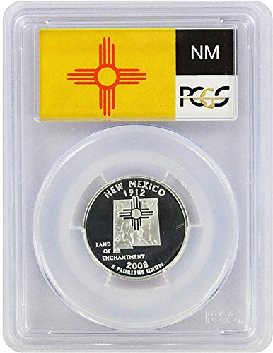 2008 New Mexico State S Silver Proof Quarter PR-69 PCGS