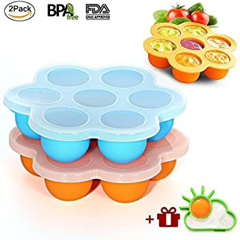 Amazon Com Ousum 2 Pack Silicone Egg Bites Molds Baby