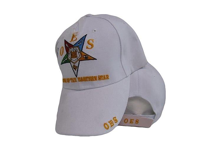 cf5b6e3ad76 Amazon.com  AES OES Order of The Eastern Star Mason Freemason White ...