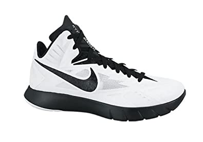 hot sale online 61319 af978 Nike Mens Lunar Hyperquickness TB Basketball Shoes (12, White Metallic  Silver Black