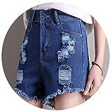 Women Shorts High Waist Denim Shorts Women Slim Casual Mujer Plus Size Yong Female Jeans Shorts,Blue,S