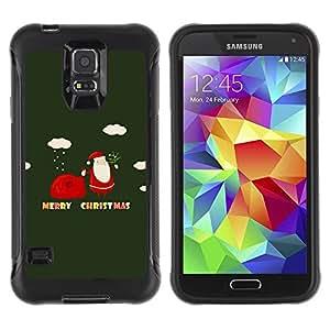 Paccase / Suave TPU GEL Caso Carcasa de Protección Funda para - Winter Christmas Merry Holidays Gift - Samsung Galaxy S5 SM-G900