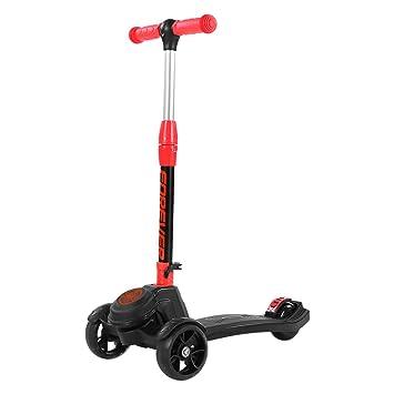 Patinetes Kick Scooter para niños Scooter de 3 Ruedas, 4 de Altura Ajustable, inclinación